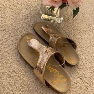New Sam Edelman Gold Girls Sandal size 2